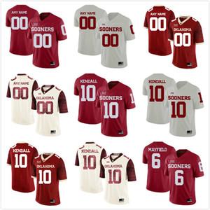Benutzerdefinierte Herren Jugend Oklahoma früher Name Jeder Nummer Personalisierte Kinder Mann Home Away NCAA College Football Trikots