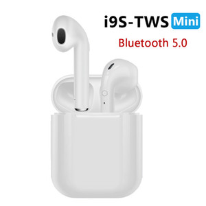 Yeni i9S TWS Mini Bluetooth Kulaklık Kablosuz Kulaklık Kulaklıklar Bluetooth Android Telefon için Mic ile 5.0 Stereo Spor Kulakiçi
