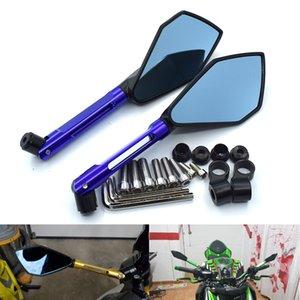 KAWASAKI HONDA SUZUKI YAMAHA DUCATI KTM için Evrensel Yeni Bir Çifti Motosiklet Motosiklet Dikiz Yan Aynalar Seti CNC Alüminyum İçin