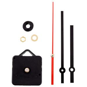Quartz Retro Quiet Hot silencieux Horloge Mouvement Noir + Mains rouges Pièces Set Kit