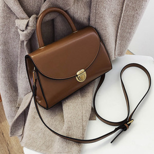 PU Leather Fashion Women Handbag Messenger Bag 2020 Solid Color Small Crossbody Bags Fashion Women Shoulder Bag