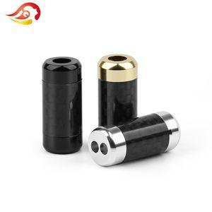 100pcs 2/3 / fibra de carbono Mini 5 milímetros fone Y divisor RCA de áudio de fio cabo conector adaptador HiFi auscultadores estéreo plug