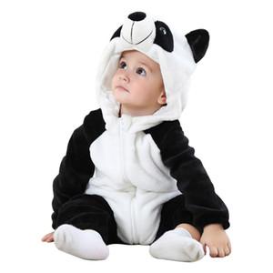 الكرتون طفل لطيف قطعة واحدة زيبر لينة عارضة الطفل بذلة الرضع للجنسين الدافئة