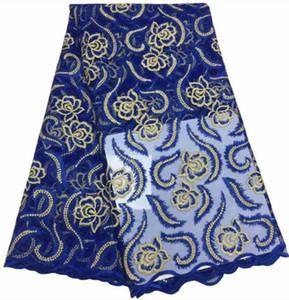 2019 высокое качество 5 ярдов / шт Нигерия кружевной ткани последние сетки Африканская чистая кружевная ткань швейцарский Volie хлопок кружевной ткани Diy платье