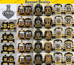 2019 Coupe Stanley Bruins de Boston 37 Patrice Bergeron Zdeno Chara Brad Marchand Rask Pastrnak Krug McAvoy Debrusk Krejci Hockey Jersey
