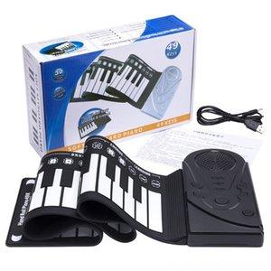 Roll-up Keyboard Piano, Instrumento Educacional portátil teclados eletrônicos teclados 49 chaves eletrônicas enrolar Keyboard for Kids Chi