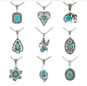 Boa A ++ Moda jóias turquesa personalizado pétalas ocos pulseira artesanal longo WFN421 colar (com corrente) misturar a ordem