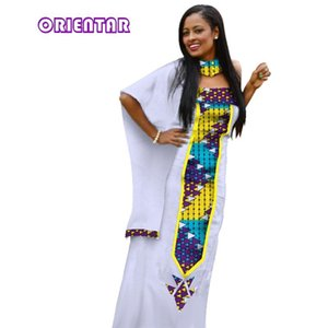 New Fashion African Dresses for Women Patchwork Cloak Clothes Long Maxi Dress Bazin Riche African Clothing Evening Party WY3011