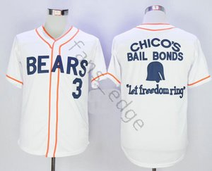 Cheap Bad News Bears Jersey Movie 1976 Chico's Bail Bonds 3 Kelly Leak Baseball White Black Embroidered Jerseys Size S-XXXL