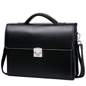 2020 nouvelle Homme Bring Password Lock Porte-documents Diagonal Package sac véritable ordinateur cuir hommes sacs à main messenger maleta