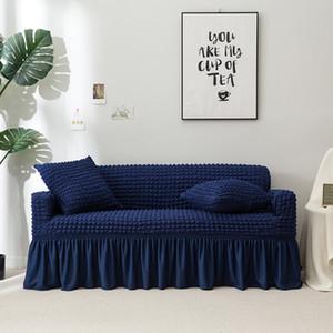 NOVO Sofá Slipcover Couch Cover Throw Pillow Caso Almofada Alta Elasticidade Universal Móveis Caso Protetor com Saia Elegante