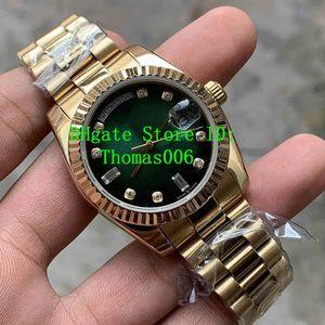2019 Новый мужской Горячие Продаем часы 36 мм 128235 118235 128238 день Дата Президент 18k розовое золото Алмазный Азии 2813 Автоматические часы Movement