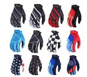 2019 troy lee diseños llenos del dedo guantes de motocross MX MTB moto de la motocicleta de carreras guantes guantes de moto