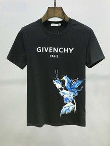 Diseñador de París Camiseta de la fan camiseta de la manera alfabeto damas de algodón ocasional del verano de los hombres de manga corta de la medusa camiseta
