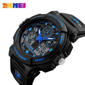 2020 nouveau top vente de mens de luxe Skmei Waterproof bon marché Montre numérique, 5 couleur montres de sport orologio di lusso