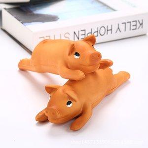 2020 nuevos accesorios para mascotas Perro de juguete mordedura al látex 24cm juguete del juguete del sonido sube cerdo