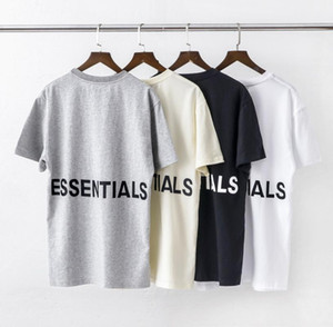 Mens Tshirt Hiphop Fog Double-Track base Shirt Essentials Imprimé Lettered T-shirt à manches courtes Mode Taille asiatique