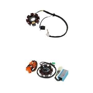 Magneto Stator 8 Coil + Magneto Stator CDI Zündspule für GY6 150cc Motor