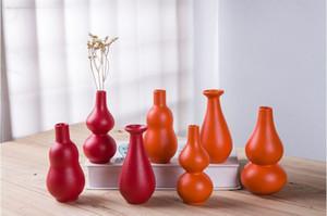 vaste poterie noire jaune maison haut de gamme fleur rouge par jour décoration moderne intercalation diamètre céramique vase simple 7cm