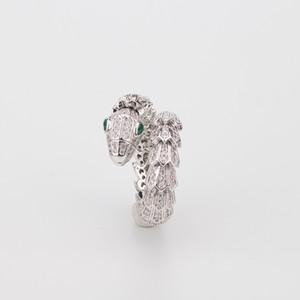 Schlange Schmuck Frauen Tier Ring Rose Gold Frau Diamant Smaragd Ringe Charms Hochzeit Engagement Schmuck zum Verkauf