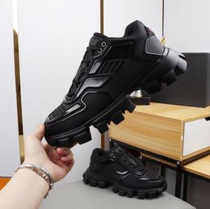 Prada Shoe Cloudbust Thunder Örme Sneakers Mens lüks Tasarımcı gündelik ayakkabı Klasik Casual Ayakkabı Kumaş Kauçuk Eğitmenler Açık h114 mens