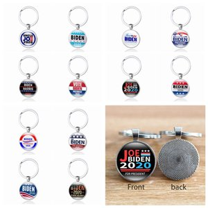 12 Styles JOE Biden 2020 Keychain Pendant Joe Biden For President Keyring US President Badge Key Chain Party Favor ZZA2200 600Pcs