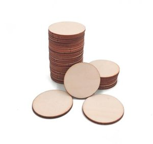 Natural Blank Wood Pieces Slice Round Unfinished Wooden Discs for Crafts Centerpieces Wooden DIY Christmas Ornaments