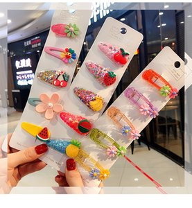 Cartoon Animals Fruits Baby Girl Barrettes Baby Weaving Hair Style With Hairclip Hair Styling Tools Accessories newclipper zEpip