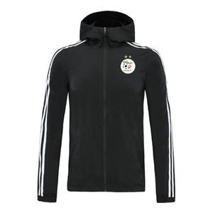 Ceketler Koşu cezayir 20/21 milli takım Hoodie rüzgarlık ceket 2020 2021 Hoodies spor kapüşonlu ceketler Kapşonlu fermuar palto