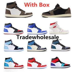 Mens Basketball Shoes 1s Travis Scotts Top Obsidian UNC Fearless PHANTOM TURBO VERDE 1 Tabellone PHANTOM GYM ROSSO Sport Sneaker Trainer