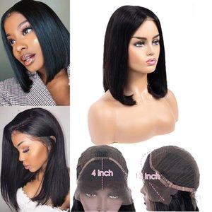 Kurzes Ohr zu Ohr Spitze Spitze Frontal Menschenhaar-Perücken Bob-Perücke 13x4 Spitze-Perücke für schwarze Frauen brasilianisches Glattes Haar Bob-Perücken