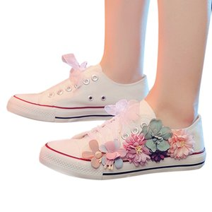 SAGACE Casual Floral Print Shoes Women Valcanized Sneakers Shoes Flat Ladies Spring Autumn Comfortable Lace-up Single Shoes