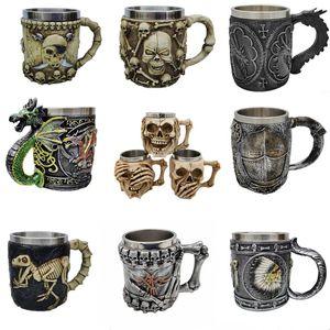 3D-Schädel-Becher Kaffee Bier Teetasse Schädel-Cup für Heim Bar Bier-Wein-Getränk-Mann-Geschenk