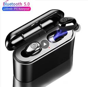 X8 TWS Bluetooth verdadeira sem fio Fones de ouvido 5D Stereo Earbuds Mini TWS Waterproof Headfrees 2200mAh Power Bank para telefones inteligentes