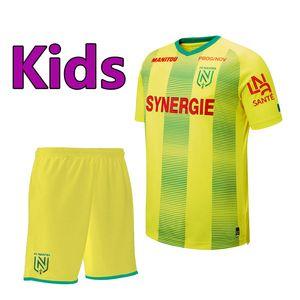 19 20 FC Nantes juegos de fútbol para niños juegos de kit de niños 2019 2020 FC Nantes camiseta de fútbol de niños uniformes de fútbol FC Nantes kits de fútbol juvenil