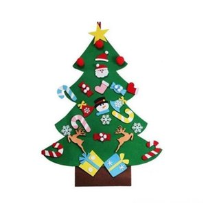 Diy Felt Tree New Year Gifts Kids Toys Artificial Tree Wall Hanging Ornaments Christmas Decoration Christmas Decorations Festive & Party Sup