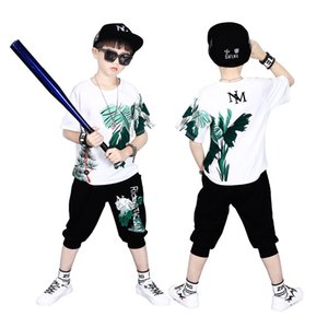 Children's Short-sleeved T-shirt Boy Summer Sweatshirt Pants Casual Fashion Shirt Loose Round Neck Top Shorts Kid Clothes 2 Sets