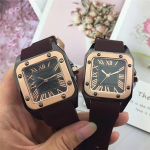 HOT Herrenuhren Armbanduhr Art und Weise Frauen Liebhaber Gummiwahl quadratisch weiblich Relogio Montre Fech Art und Weise beiläufigen Sport Armband freies Verschiffen