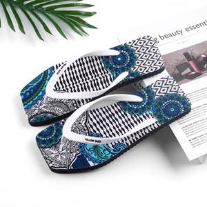 35-46 unisex square toe flip flops large size men slippers multicolored flip flops antiskid seaside women sandals tropical region shoes z90