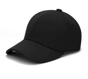 Boné de beisebol clássico ajustável Plain Hat Homens Mulheres cor preta