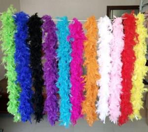 Pluma Blanca Boas Turquía boa de plumas grandes de la ceremonia de boda Chandelle marabú boa de plumas Boas Blanco Rosa Amarillo Naranja Rojo Verde