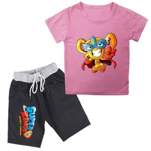 2020 New Summer Baby Boys Super Zings Series 4 T-shirt+shorts Print Superzings Kids Girls Suit Casual Children's Sets Clothing