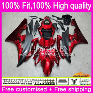 OEM Injection For YAMAHA YZF 600 R 6 YZF-R6 YZF600 84HM.0 YZF-600 YZF R6 YZFR6 08 09 10 11 12 2008 2009 2010 2011 2012 Fairing Metal red BLK