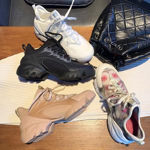 Luxe Connect Sneaker Designer Triple Sneakers Femmes Rétro Vintage Formateurs Ruban Rétro Chaussures Casual Nu Noir Blanc Ruban Grosgrain