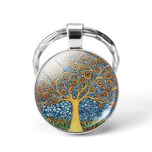 Crystal Tree of life Aromatherapy Essential Oil Diffuser Necklace Perfume Open Lockets Chains with Refill Pads Jewlery Women Drop Shipping