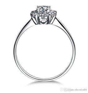Nlm99% 100 925 silversterling gümüş kadınlar için 14k beyaz altın kaplama 1CT Prenses kesim SONA Simüle Pırlanta nişan yüzükleri ince Gümüş
