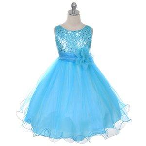 Golden shield Children's dress Girls' gauze Princess Piano performance dress Dress ball gown girls pageant dresses top sellers