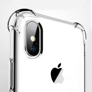 Ультра тонкий прозрачный силиконовый чехол TPU для iPhone XS 7 8 plus защитите резиновый чехол для телефона iPhone X