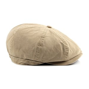 Cotton hat spring and summer new men's beret fashion duck tongue forward hat British octagonal painter
