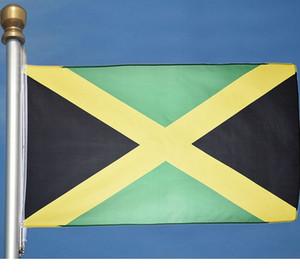 Jamaican Flag 3x5 ft Gewohnheit national Land Flaggen Jamaika Alle Artfliegen Hanging Verzierung Aktivität Festival Armee Nutzung